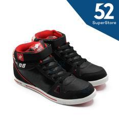 Harga Finotti Sepatu Sekolah J Bieber 08 Black Red Termahal