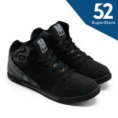 Finotti Sepatu Sekolah J.Bieber 09 - Black/Grey Size 38/42