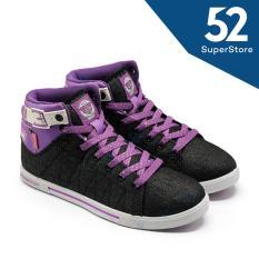 Finotti Sepatu Sekolah Zarra - Black/Fushia Size 36/40