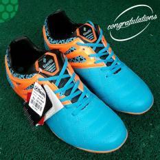 Amelia Olshop - FINOTTI Sepatu Sepak Bola Pria - Biru Orange