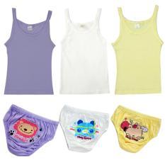 Beli Finy Girls Combo Pack Singlet Celana Dalam Animal Cartoon 05 6 Pcs Online Murah