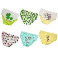 Spesifikasi Finy Girls Value Pack Celana Dalam Anak Perempuan Leap Before Sleep Little G*rl 6 Pcs