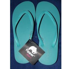Fipper Basic Sandal Wanita Warna Biru Muda (Aqua) Sandal Jepit Flat Gratis Ongkir