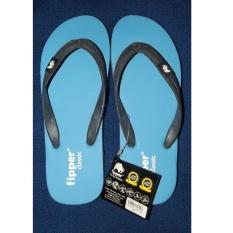 Fipper Classic Sandal Jepit Flat Pria Warna Biru Gratis Ongkir
