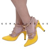 Jual Firdaus Sepatu Heels Wanita Pesta S 406 Yellow Lengkap