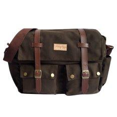 Jual Firefly Bag Orion Dark Brown Canvas Messenger Bag Di Bawah Harga