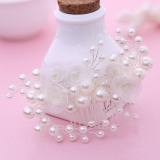 Spesifikasi Fishion Pearl Flower Handmade Bridal Crown Wedding Hair Jewelry Crystal Tiara For Woman Gift Intl Oem