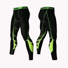 Toko Jual Kebugaran Latihan Celana Ketat Pria Peregangan Tinggi Legging Breathable Quick Dry Berlari Berlatih Celana Intl