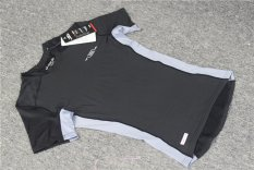 Harga Pria Lengan Bang Pendek Pelatihan Kebugaran Olahraga Lari T Shirt Kompresi The Sports Binaraga Cepat Kering Pakaian Kebugaran Celana Ketat Hitam Yang Murah Dan Bagus