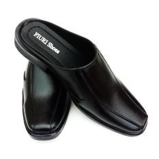 FIURI BJ6 - Sepatu Pantofel Pria Selop Polos - Sepatu Formal Pria Slop Polos -  Sepatu Kerja Pria Slop Polos