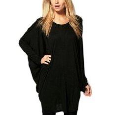 Five Star Store ZABZEA Plus Size New Women Batwing Sleeve Oversized T Shirt Loose Long Top