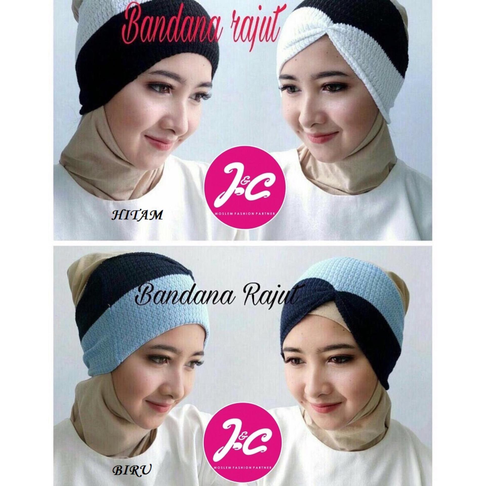 Jualan Diskon Kenzmal Manset Penutup Leher Dan Dada Model Smoke Bandana Rajut Two Tone Kerut Fjco Ciput Hijabers Fashion Muslim Jilbab