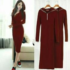 FJCO hoodie sleting anabel / Dress wanita / Gaun wanita / Fashion Wanita