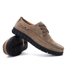 Beli Flat Sepatu Untuk Pria Kulit Perahu Sepatu Lembut Kulit Asli Jahit Sepatu Kasual Mens Sepatu Male Alas Kaki Zapatos Hombre 062 Khaki Intl Cicilan