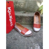 Toko Flat Shoes Kickers Woman Orange White Original Leather Kickers Jawa Timur