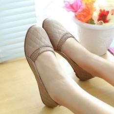 Jual Flat Shoes Rubber Hitam Dan Coklat Indonesia