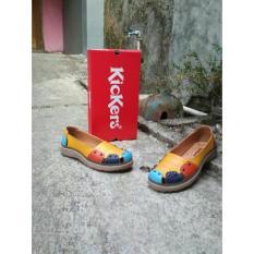 Promo Flat Shoes Wanita Combine Kickers Original Leather Kickers