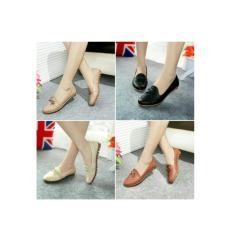 Flatshoes Kulit Ular Sintetis ML04 KREM