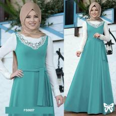 Flavia Store Maxi Dress Set 2 in 1 FS0657 - TOSCA / Gamis Syari / Gaun Pesta Muslimah / Baju Muslim Wanita Syar'i / Srslavina