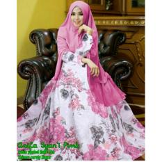 Beli Flavia Store Gamis Syari Set 2 In 1 Fs0444 Pink Baju Muslim Wanita Syar I Gaun Muslimah Maxi Dress Lengan Panjang Hijab Rnasifa Secara Angsuran