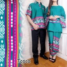 Flavia Store Batik Couple FS0062 – TOSCA / Sarimbit / Baju Pasangan / Sepasang Busana / Kemeja Pria Setelan Kebaya Modern Stelan Wanita / Tzcpyanti