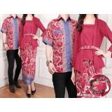 Cara Beli Flavia Store Batik Couple Fs0078 Merah Marun Sarimbit Baju Pasangan Sepasang Busana Kemeja Pria Setelan Kebaya Kutu Baru Modern Stelan Kutubaru Wanita Tzcpsinta