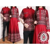 Jual Flavia Store Batik Couple Fs0172 Merah Marun Sarimbit Baju Muslim Pasangan Sepasang Busana Kemeja Pria Gaun Muslimah Gamis Wanita Tzcpkartika Di Bawah Harga