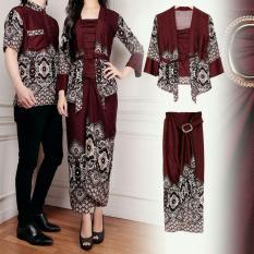 Rp 147.000. Flavia Store Batik Couple FS0605 - COKLAT / Sarimbit / Baju Pasangan / Sepasang Busana / Kemeja Pria ...