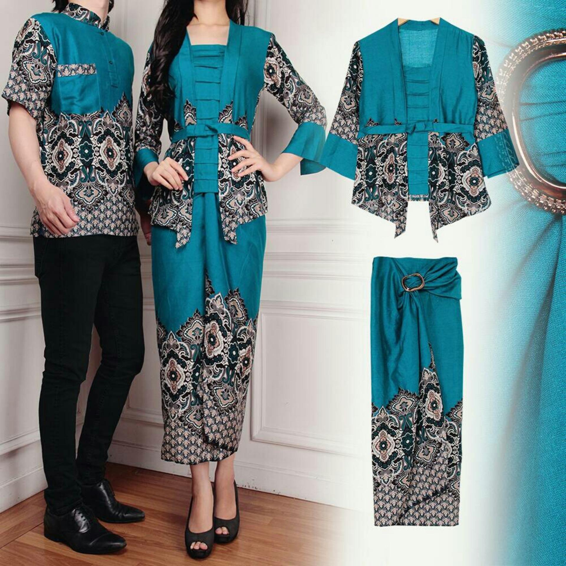 Koko Info Harga Busana Promo Terbaru Hanya Untuk Anda Baju Pesta Couple Modern Desain Trendi Flavia Store Batik Fs0606 Tosca Sarimbit Pasangan Sepasang