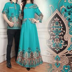 Flavia Store Batik Couple FS0638 - TOSCA / Sarimbit / Baju Muslim Pasangan / Sepasang Busana / Kemeja Pria Gaun Muslimah Gamis Wanita / Tzcpcaca