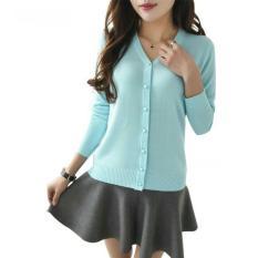 Beli Flavia Store Cardigan Wanita Rajut Fs0753 Biru Muda Kardigan Sweater Jaket Baju Hangat Luaran Switer Rnabg Cicilan