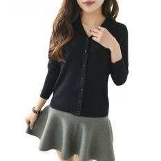 Flavia Store Cardigan Wanita Rajut FS0754 – HITAM   Kardigan   Sweater    Jaket   Baju Hangat   Luaran   Switer   Rnabg 7a28e54e85