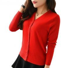 Jual Flavia Store Cardigan Wanita Rajut Fs0755 Merah Kardigan Sweater Jaket Baju Hangat Luaran Switer Rnabg Flavia Store