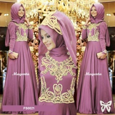 Harga Flavia Store Maxi Dress Lengan Panjang Set 2 In 1 Fs0021 Magenta Gamis Syari Gaun Pesta Muslimah Baju Muslim Wanita Syar I Hijab Srprincess Terbaik