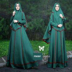 Flavia Store Gamis Syari Set 2 in 1 FS0267 - TOSCA / Baju Muslim Wanita Syar'i / Gaun Muslimah / Maxi Dress Lengan Panjang / Hijab / Srjanetta
