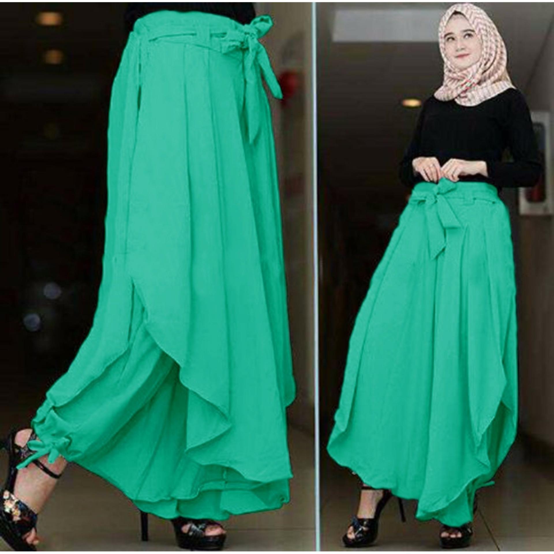 Flavia Store Celana Panjang Wanita FS0146 TOSCA Kulot Rok Muslim Aladin Bawahan Muslimah