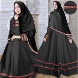 Review Flavia Store Gamis Syari Set 2 In 1 Busui Pita Songket Fs0612 Hitam Baju Muslim Wanita Syar I Gaun Pesta Muslimah Maxi Dress Lengan Panjang Hijab Nisherly Dki Jakarta