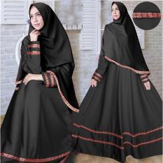 Toko Flavia Store Gamis Syari Set 2 In 1 Busui Pita Songket Fs0612 Hitam Baju Muslim Wanita Syar I Gaun Pesta Muslimah Maxi Dress Lengan Panjang Hijab Nisherly Dekat Sini