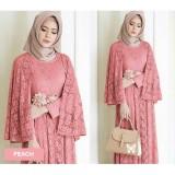 Ongkos Kirim Flavia Store Maxi Dress Lengan Panjang Fs0772 Peach Gamis Syari Gaun Pesta Muslimah Baju Muslim Wanita Syar I Srregina Di Dki Jakarta