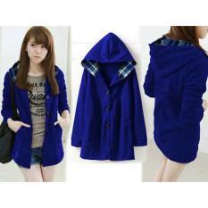 Dapatkan Segera Flavia Store Jaket Hoodie Wanita Fs0410 Biru Elektrik Luaran Atasan Sweater Switer Rnmelda
