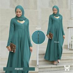 Flavia Store Maxi Dress Lengan Panjang FS0191 - TOSCA / Gamis Syari / Gaun Pesta Muslimah / Baju Muslim Wanita Syar'i / Srpaula