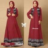 Flavia Store Maxi Dress Lengan Panjang Set 3 In 1 Batik Tribal Fs0634 Merah Marun Gamis Syari Gaun Pesta Muslimah Baju Muslim Wanita Syar I Hijab Srmaureen Dki Jakarta Diskon