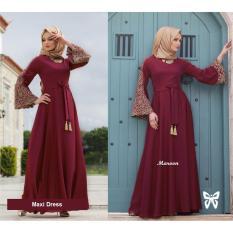 Toko Flavia Store Maxi Dress Lengan Panjang Terompet Bordir Fs0713 Merah Marun Gamis Syari Gaun Pesta Muslimah Baju Muslim Wanita Syar I Srmadina Murah Di Dki Jakarta