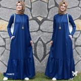 Promo Flavia Store Maxi Dress Lengan Panjang Set 2 In 1 Fs0672 Biru Gamis Syari Gaun Pesta Muslimah Baju Muslim Wanita Syar I Hijab Srzahwa