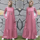 Promo Flavia Store Maxi Dress Lengan Panjang Set 2 In 1 Fs0674 Peach Gamis Syari Gaun Pesta Muslimah Baju Muslim Wanita Syar I Hijab Srzahwa Dki Jakarta
