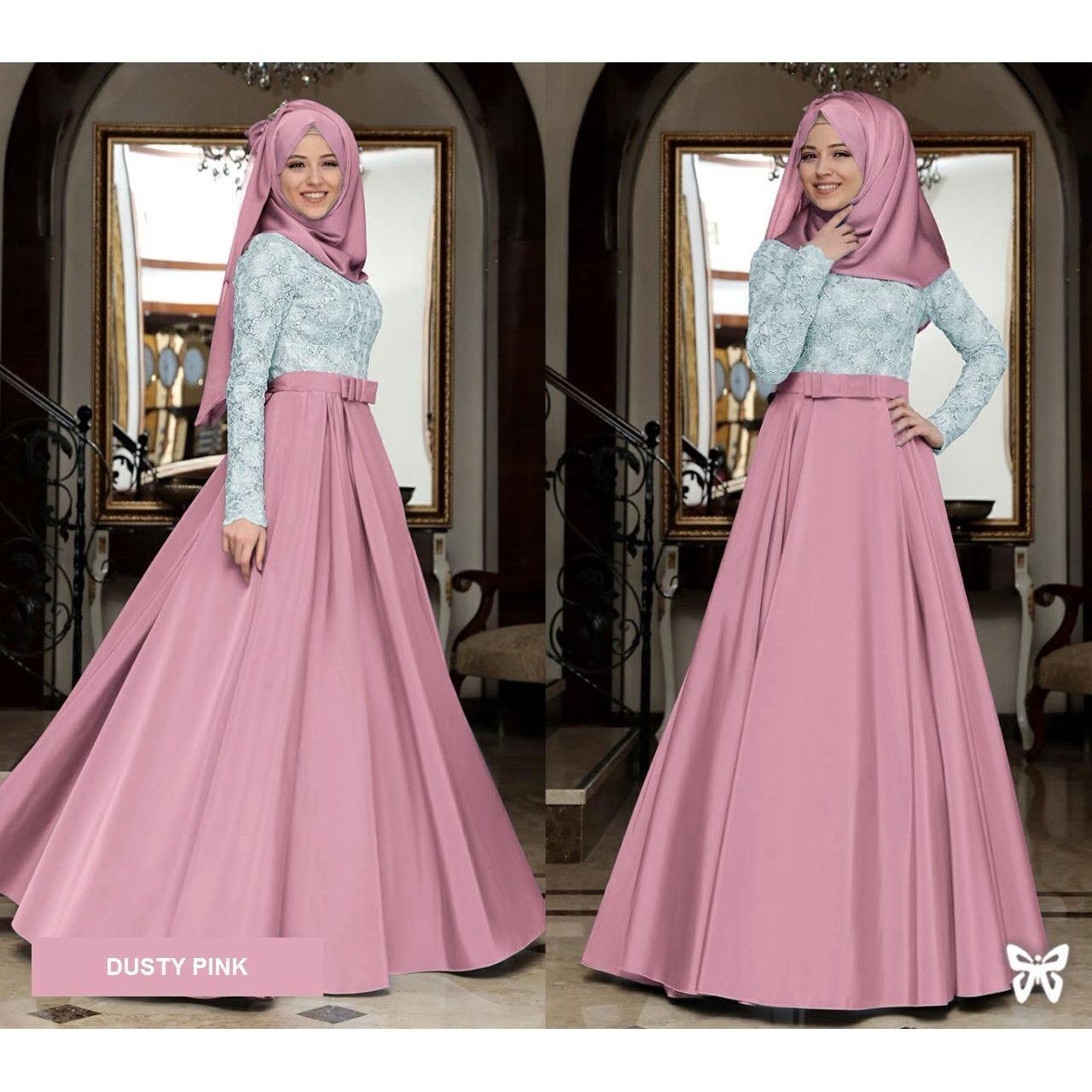 Beli Murah Harga Diskon Flavia Store Maxi Dress Lengan Panjang Set 2 Best Flower Baju Muslim Wanita Busana Muslimah Gamis Busui In 1 Fs0720 Dusty Pink