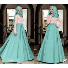 Flavia Store Maxi Dress Lengan Panjang Set 2 in 1 FS0721 - TOSCA / Gamis Syari / Gaun Pesta Muslimah / Baju Muslim Wanita Syar'i / Hijab / Srmahira