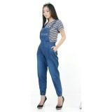Toko Flavia Store Overall Jeans Wanita Joger Fs0476 Biru Tua Celana Jumpsuit Baju Kodok Jamsuit Rnjeanspoket Terlengkap Di Dki Jakarta