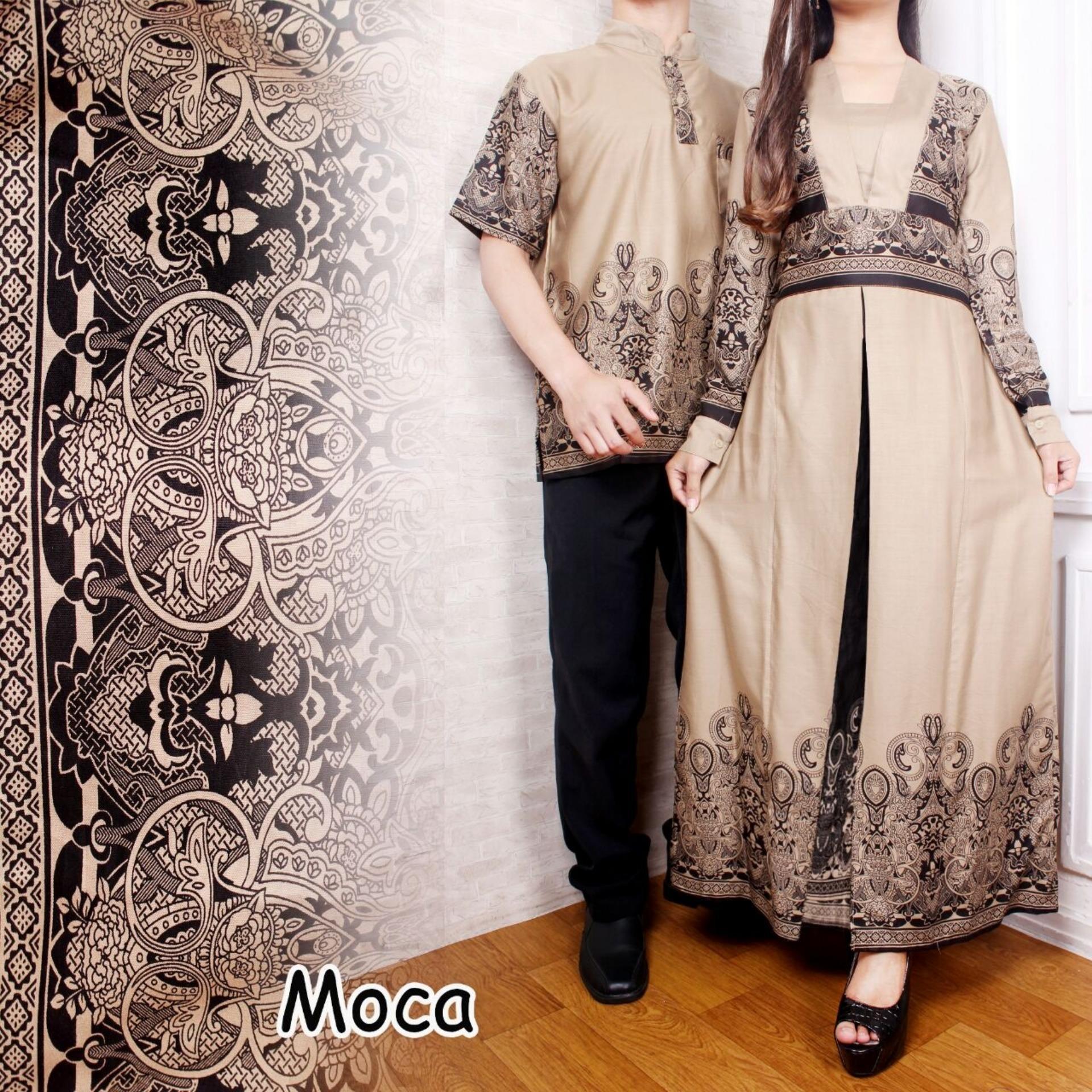 Desain trendi Flavia Store Batik Couple FS0067 - MOCCA / Sarimbit / Baju Muslim Pasangan / Sepasang Busana