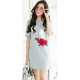 Flavia Store TShirt Dress Lengan Pendek FS0026 - MERAH MARUN / Gaun Kaos Wanita / Baju Terusan / Rnvenice | Lazada Indonesia